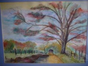 """""""Night Fire Road"""", janekohut-bartels, watercolor, 2010"""