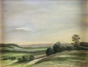 """Early Autumn Dusk"", oil, Jane Kohut-Bartels, 2003"