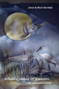 """White Cranes of Heaven"", cover painting by the author"