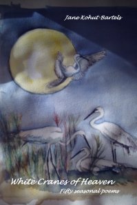 """White Cranes of Heaven"", painting by the author"