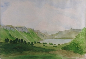 Summer in Scotland, watercolor, 2003, Jane Kohut-Bartels