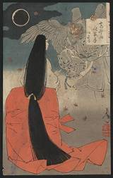 Heian era Woman with Tengu