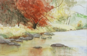 """North Carolina Stream"", watercolor, janekohut-bartels, 2008"
