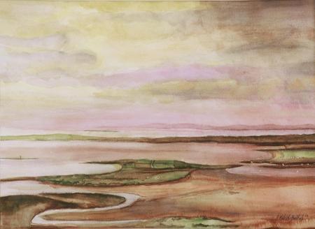 """Winter Into Spring"", watercolor, janekohutbartels, 2006"