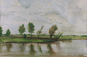 Watercolor, Salisbury, janekohut-bartels, 2005