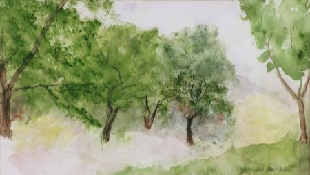 """Spring"", watercolor, janekohutbartels, 2006"