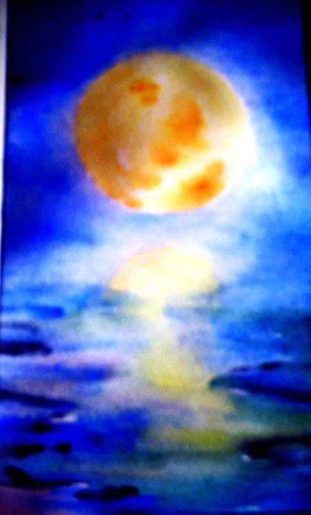 "was to be the cover painting for ""Pitcher of Moon"" but didn't work out."